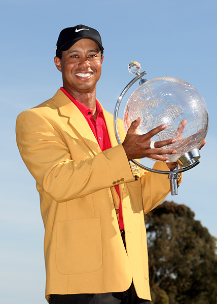 "AUSTRALIAN MASTERS, Nov. 15, 2009                                              On the course                       After a sloppy Saturday in Melbourne, Woods roars back with a final-round 68, good enough to bag his seventh win of the year and make good on his $3 million appearance fee. Asked what his legacy would be Down Under, Woods smiles and says, ""I got a W."" Ah, not exactly...                                               Off the course                       And so it begins. A National Enquirer reporter witnesses alleged Tiger mistress Rachel Uchitel checking into Melbourne's Crown Towers, the same hotel at which Tiger is staying. (Days later, in the wake of Woods's mysterious Thanksgiving night car accident, the Enquirer outs Tiger as a philanderer.)                                               Perceived stress level:                        He'd gotten away with his secret life for this long, so it's hard to imagine he could have foreseen that his house of cards was finally ready to implode."