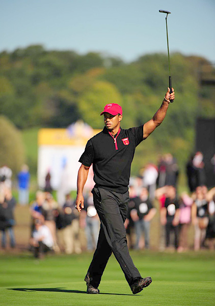 Sept. 7 - Corey Pavin announces that Woods is one of his four captain's picks for the Ryder Cup.                       Oct. 4 - Woods plays the final seven holes in seven under par to win his singles match against Francesco Molinari in the Ryder Cup. He finishes the week with a 3-1-0 record, his best ever, although the Americans lose to Europe.
