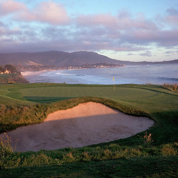 14. Pebble Beach Golf Links, No. 9                     AT&T Pebble Beach National Pro-Am                     Par 4, 4.439 scoring average