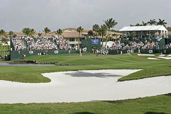 1. Doral Golf Resort & Spa, No. 18                     CA Championship                     Par 4, 4.625 scoring average