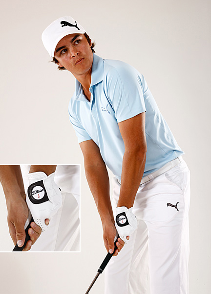 Interlock: Rickie Fowler                                              What It Does: Strengthens your gripping power where your hands meet, an area where a lot of amateur holds tend to break down. Fowler started using this grip when he was three years old, when his hands could barely fit around the handle. It's a grip-cementer.                       How to Do It: Intertwine your right pinkie and left index finger around the handle.                       You know you need it if: You have small hands, or tend to swing fast and have no intention of slowing down your swing.