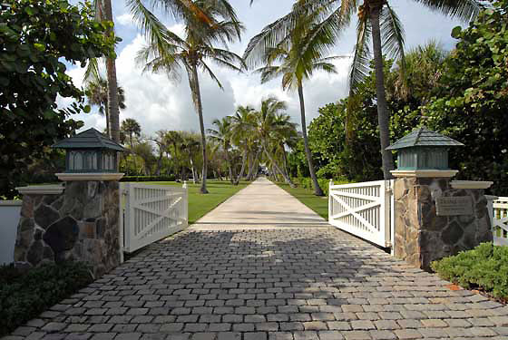 The main gate at 382 South Beach Road.