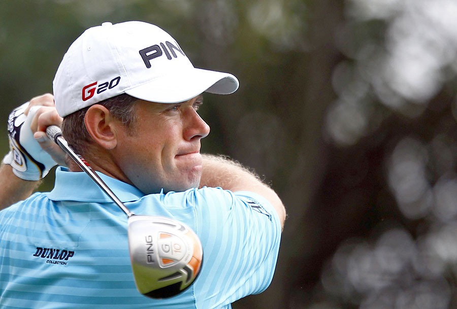Lee Westwood made an eagle on the par-5 14th on his way to a three-under 69.