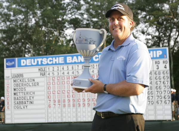 Loser: Phil Mickelson In what should've been his  finest hour, Lefty went on TV at the Deutsche  Bank and whined about an unexplained  slight he had suffered at the hands of Tim  Finchem.