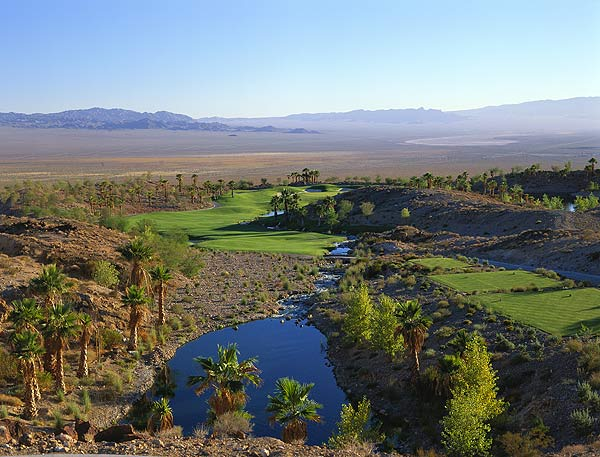 "No. 3. Las Vegas, Nev.                       Population: 1,776,187                       Median home price: $310,000                       Number of public courses: 53                       Median green fee: $140                                              THE GOLF: Sin City ranks No. 1 in two categories: accessibility to quality public courses and availability of total public courses. Yeah, you'll pay for that quality: The median greens fees are rocket-high. ""But hey,"" says Charley Hoffman, resident pro and winner of the '07 Bob Hope Chrysler Classic, ""at least golf keeps you busy for five hours!"" The A-listers (Tom Fazio's Shadow Creek and Wynn Las Vegas, Rees Jones' Cascata) are pricey, but fairer offerings abound, like Wildhorse Golf Club, a classic palm- and-pine-lined design that features dramatic mountain views. With greens fees under $50, it's a jackpot.                                               THE REST: Even if you don't gamble, bet on this: You'll never be bored in Vegas. See a show, tour the Canyon or snag a table at Prime, one of the best steakhouses in America.                                              • Perfect Day of Golf in Las Vegas                                              The Rees Jones-designed Cascata Golf Club is a man-made tribute to natural excess."