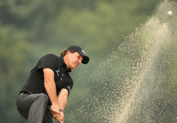 Mickelson struggled on the front nine, making two birdies and two bogeys.