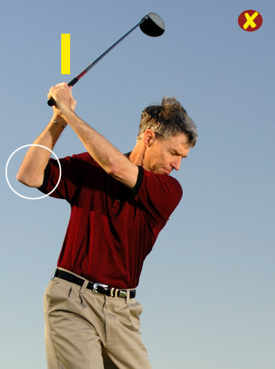 How to Stop Pushes and Pulls                       A grip adjustment will get your swing back on track                       By Bill Moretti                       Top 100 Teachers                                              This story is for you if...                                              • Your swing feels very steep and you hit a lot of pulls and slices, or...                                              • It feels very flat and you hit a lot of pushes and hooks.                                              Check This!                       Make your backswing in front of a full-length mirror (or with a friend standing behind you) and stop at the top. If you're prone to missing fairways, the shaft will either point right of your target line (across the line) or to the left (laid off).                                              If you're across the line...                       You're taking the club back to the inside of the target line, then lifting it to the top with mostly your right arm. From an across-the-line top position, you're likely to swing into the ball from the inside. If the clubface is square to your swing path, you'll hit a push; if the face is square to the target at impact, you'll hit a hook.