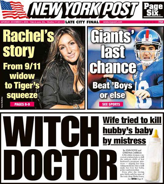 New York Post — December 5, 2009