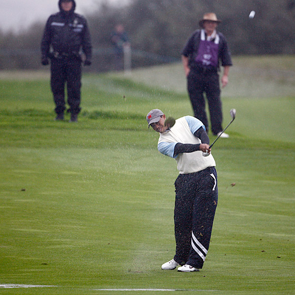 Woods was paired with Stricker for the morning four balls.
