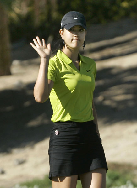 Michelle Wie shot a one-under 71 to finish one shot out of last place. It was her first round under par the entire week.