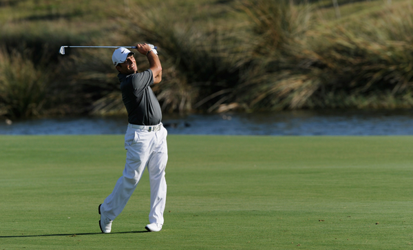 bogeyed three of the last four holes for a 2-over 74.