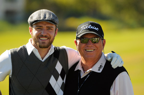 Instructor Butch Harmon stopped by for a picture with Timberlake.