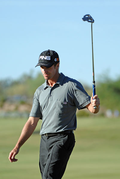 Mark Hensby fired a nine-under 61, the low round of the tournament.