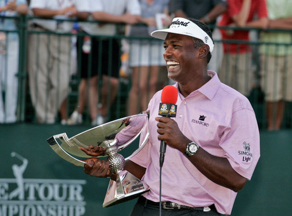 A Good Year For ...                       Finishing kicks                       Vijay Singh catches fire at                       season's end to win the FedEx Cup                       and $10 million. Veej rejoices by                       whacking 10 million range balls.