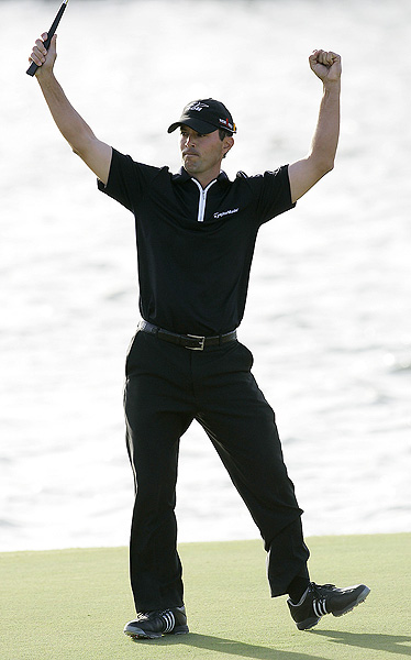 Final round of the Fry's Electronics Open                                          Mike Weir won for the first time in more than three years. He finished at 14 under par.