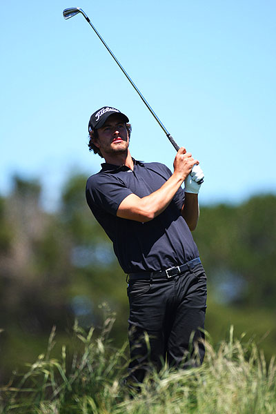 Adam Scott finished fourth after shooting 75.