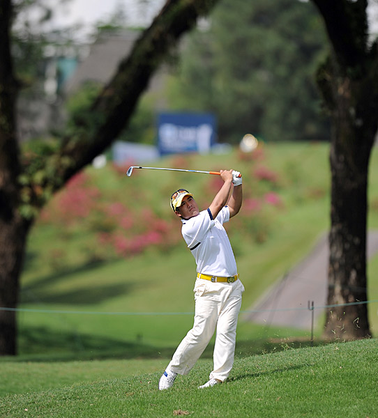 of Thailand shot a 65 to match Crane at 11 under.