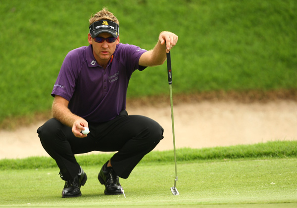 Ian Poulter made six birdies and a bogey for a one-shot lead.