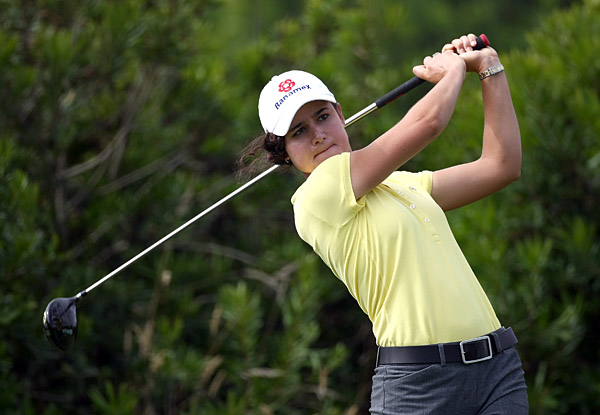 Lorena Ochoa made an eagle on No. 10. She finished with a 69.
