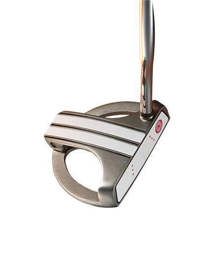 "October 2007: High-MOI Mallet Putters                       Winner: Odyssey White Hot XG Marxman Mallet                       $169; odysseygolf.com                       Equipment Finder Profile                                              WE TESTED: 34"" and 35""                                              COMPANY LINE: ""The multi-layer insert                       has an elastomer                       core material that                       provides softness for                       great feel, and is                       highly resilient to get                       the ball rolling quickly.                       A thin outer striking                       surface is firm for                       fine-tuned                       responsiveness.""                                              OUR TEST PANEL SAYS:                        Pro:                        Soft, yet 'clicky' face insert; enough                       feel and response for low handicappers and                       forgiveness for higher ones; white stripes                       with three alternating black sight lines make                       it easy to pick your line and promote a                       straight-back-and-straight-through putt;                       putts snap off the face; dampens vibrations                       associated with off-center contact; light                       overall feel given its size.                                              Con:                       Very easy to make a good stroke but                       doesn't have that 'swings itself' feel;                       noticeable drop-off on mis-hits.                                              Visual aids help you see a square                       face at impact. — Chris Klamkin, 2 handicap"