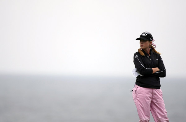 Paula Creamer finished with a birdie to remain two shots off the lead.