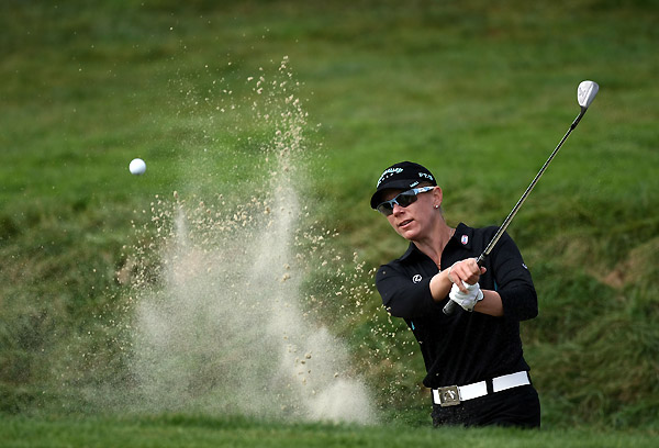 Sorenstam tumbled down the leaderboard after a five-over 77.