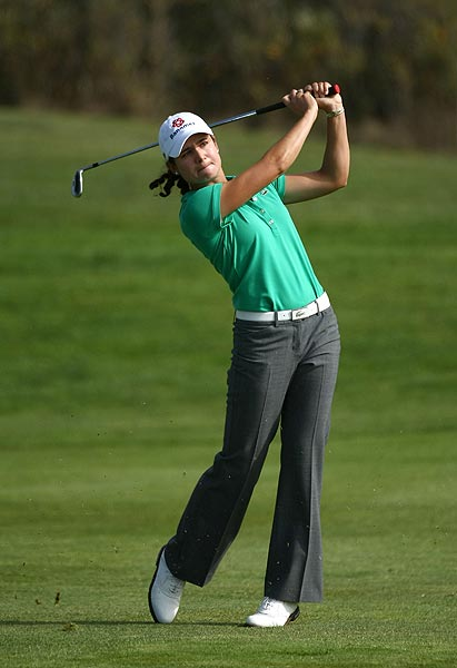 Lorena Ochoa, two-time defending champion, finished in a tie for third.