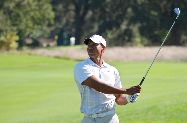 Tiger Woods shot a three-under 68 on Saturday to move to four under heading into the final round.