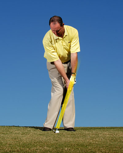 ...and make sure that it's there in your finish. This ensures that it's there at impact so you can catch the ball crisp.