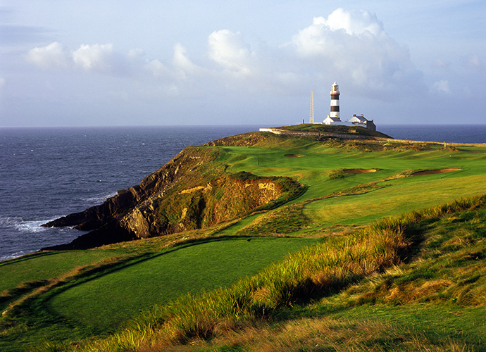 Old Head Golf Links, Kinsale, Co. Cork: Some contend that Old Head is the most spectacular course in the world. What's undeniable is that this 16-year-old cliff top layout is jaw-dropping from start to finish. Holes on each nine drape 300-foot-high cliffs above the Atlantic Ocean and backdrops include castle ruins, a lighthouse and the spot in the sea where the Lusitania went down. ($187-$388; 011 353 21 4778 444, oldhead.com)