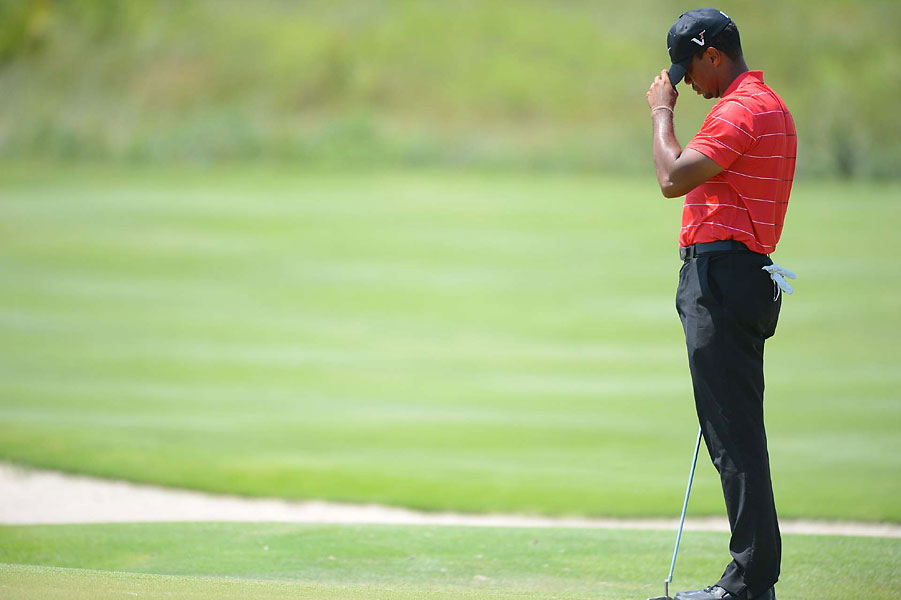 Woods has played 14 majors without a win, the longest drought of his professional career.
