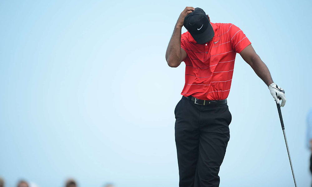 Woods has not won a major since the 2008 U.S. Open.