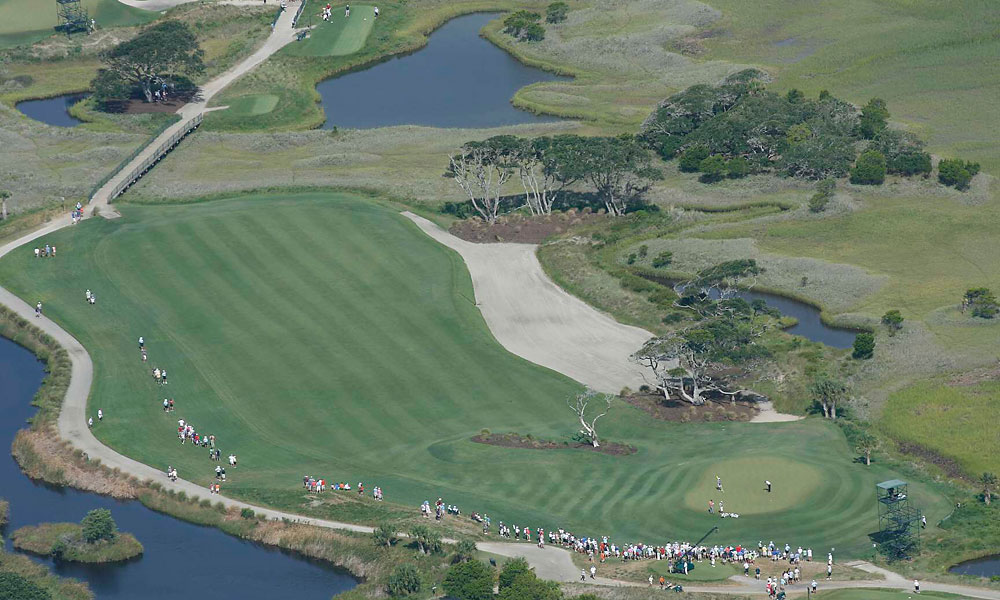 The Ocean Course was hosting its first major championship.