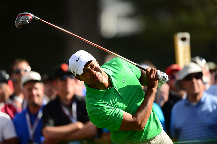 Woods, who had been nearly flawless on Thursday and Friday, had trouble controlling his ball on Saturday.
