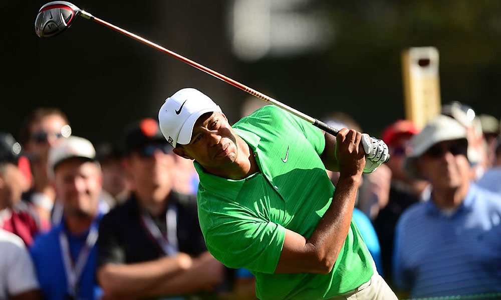 Sour Lime                     Tiger Woods wore a vivid green shirt on Saturday. One might say it was not his day -- or his color.