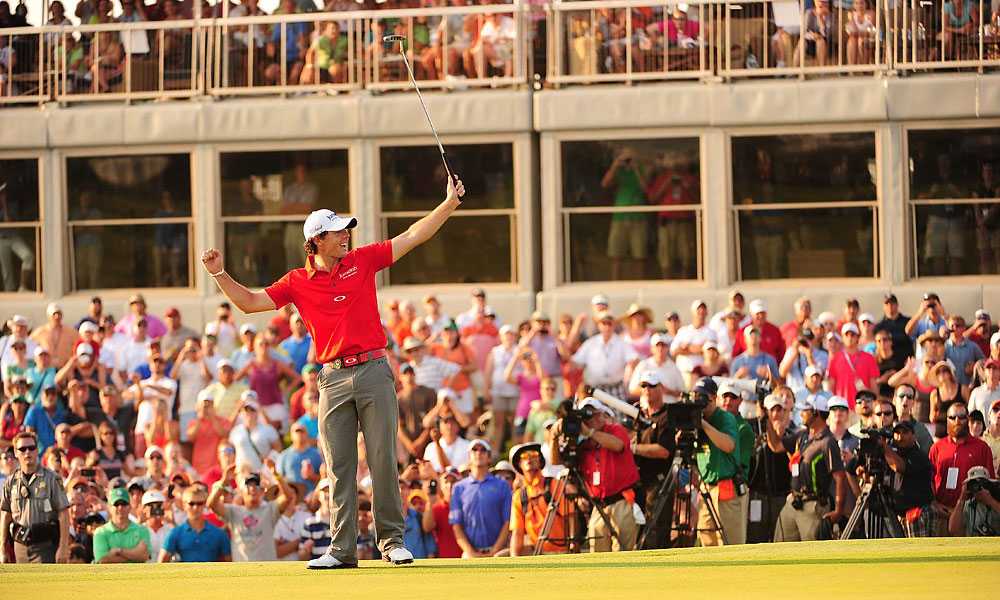 McIlroy birdied the 18th hole, winning by a PGA-record eight shots.