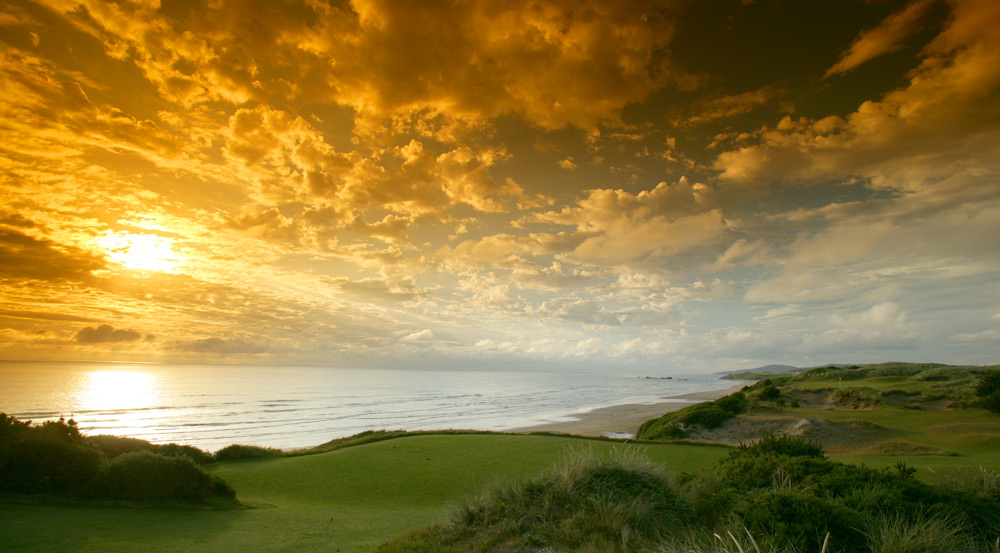 "Pacific Dunes -- Bandon, Ore.No course in the U.S. serves up such a quirky, yet delightful stew of imaginative shot-making opportunities and mind-blowing aesthetics. Amid shaggy sand dunes, prickly gorse bushes and natural ""blow-out"" bunkers on wind-blown cliffs 100 feet above the Pacific, architect Tom Doak created a back nine with three par 5s and four par 3s. Lack of population, airport access, available lodging and gallery space make this a fantasy pick, but a man can dream, can't he?Ranked No. 1 on Golf Magazine's Top 100 Courses You Can Play"