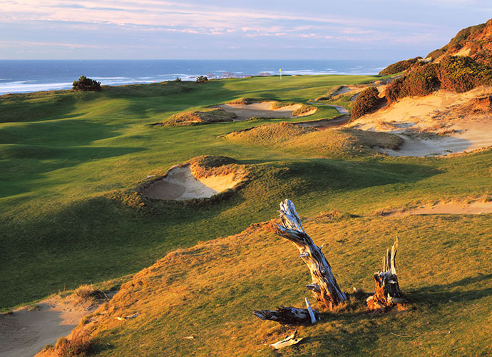 11. Pacific Dunes, Bandon, Ore., U.S.: Pacific amps up the drama and memorability quotients, as well as the more exciting green contouring, notably at the par-4 4th and par-4 13th, the latter bracketed by a massive natural sand dune to the right and by 75-foot-high cliffs to the left, with strategic interest that matches the beauty. More significantly, Pacific has the largest collection of truly memorable holes of any public-access course in the U.S.
