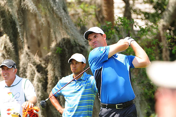 Harrington, who has no top-10 finishes this season, finished the day at even par after three birdies and three bogeys.