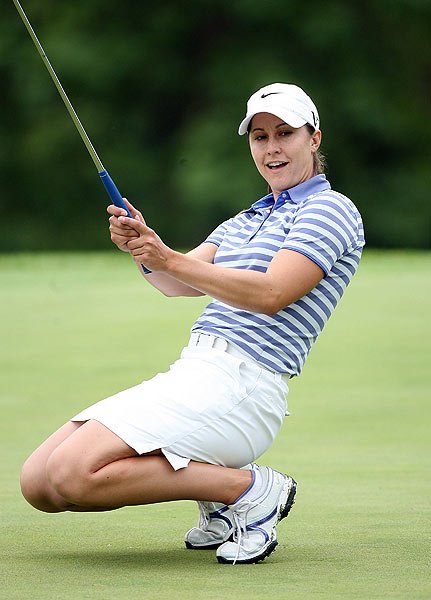 Paige Mackenzie started off her round with three-straight birdies. She's at four under.