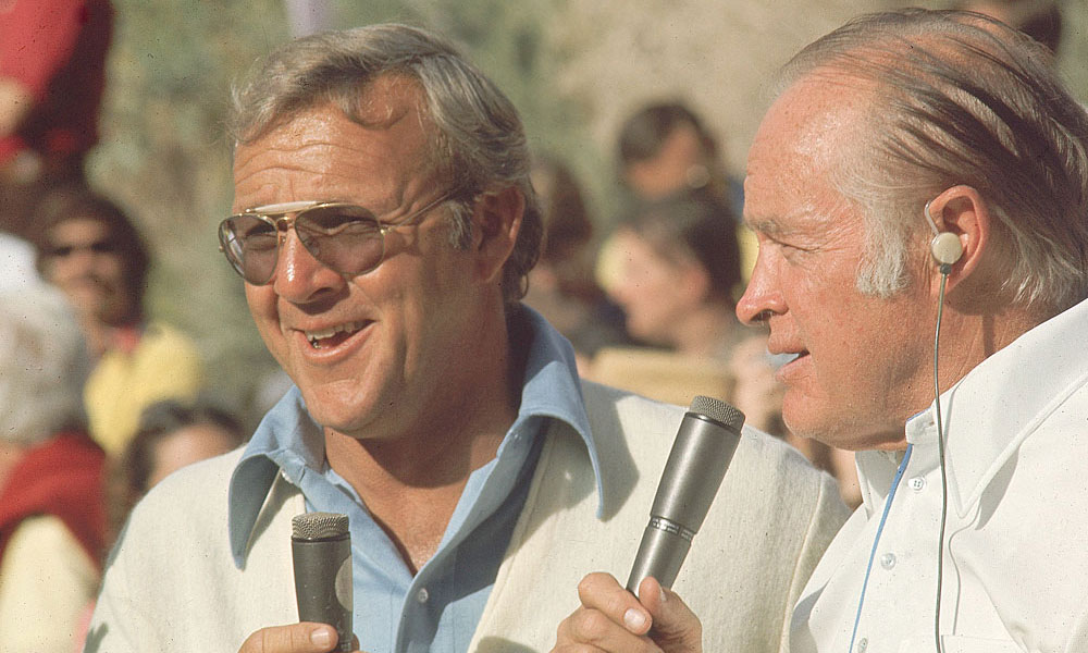 "Bob Hope hosted a PGA Tour event for more than 30 years, and he rubbed elbows with many golfers and entertainers. Hope said of his good friend Arnold Palmer, shown here in 1974: ""He's won as much money as I've spent on lessons."""