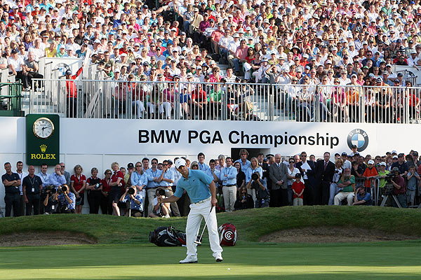 BMW PGA Championship                     Paul Casey is the only player with three victories in 2009: BMW PGA Championship, Abu Dhabi and Shell Houston Open. After starting the year 41st in the World Rankings, Casey has replaced Sergio Garcia in the third spot.