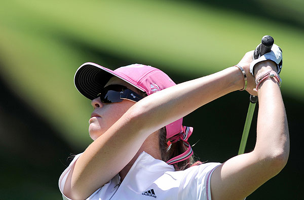 Former Evian Masters champion Paula Creamer finished four strokes off the lead.