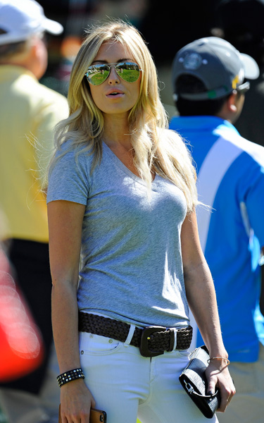 For the second straight week, her boyfriend, Johnson, and father, Wayne Gretzky, played in the pro-am.