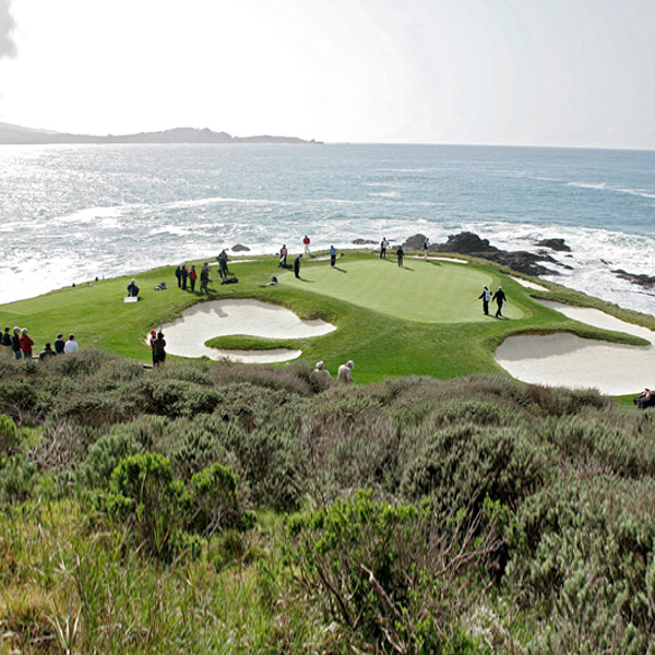 The wind makes No. 7, the shortest hole in major championship golf, one of the hardest holes at Pebble Beach.