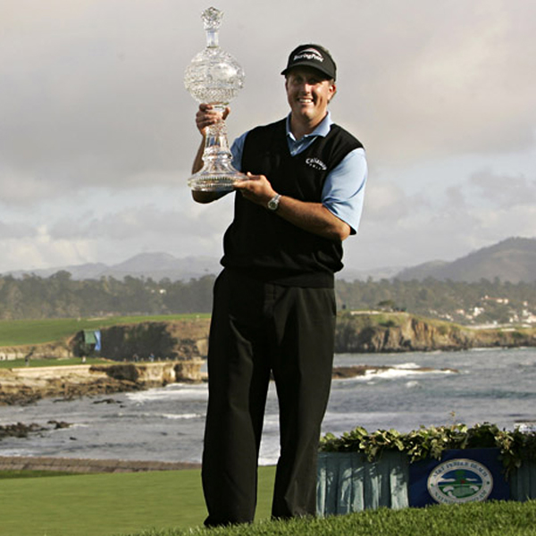 Phil Mickelson quieted his critics and grabbed the trophy at the AT&T Pebble Beach.  It was his first victory since his U.S. Open meltdown at Winged Foot.
