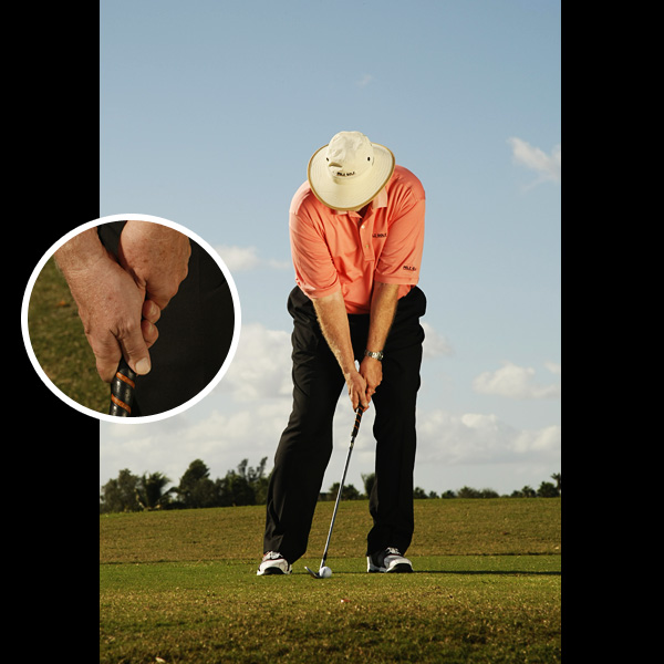 YES Hands ahead of the clubhead and a straight left wrist at impact increase the chance of solid contact.