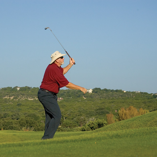 Fall back in your follow-through to regain balance.