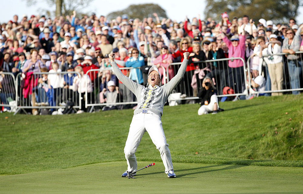 Suzann Pettersen                       Reason to Celebrate: Pettersen won three points and helped Europe upset the U.S. team to claim the Solheim Cup for the first time in eight years.