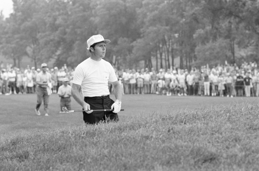 1972 — WE HAVE LIFTOFF!                                              Oakland Hills Country Club,                       Bloomfield Hills, Mich.                       Winner: Gary Player                                              After making back-to-back bogeys and slicing his tee shot on the 16th in the final round, Gary Player couldn't see the flagstick. Blind shot? Not quite. Player grabbed a chair from the gallery and climbed atop to line up his shot. Then he hit one of the best recovery shots in major history: a 9-iron that just cleared the trees and a lake and rolled to within four feet of the hole. Player sank the birdie putt and clinched his second PGA with pars on the final two holes.